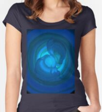 Shades of Blue. Women's Fitted Scoop T-Shirt