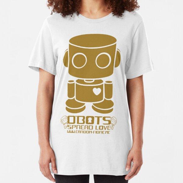 O'BOT: Love is Golden Slim Fit T-Shirt