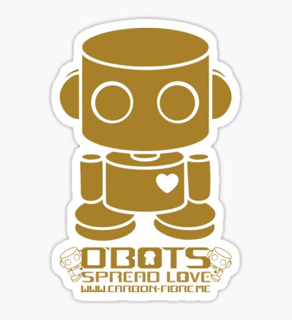 O'BOT: Love is Golden 2.0 Sticker