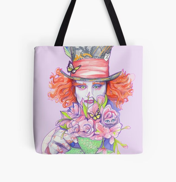Mad Hatter  All Over Print Tote Bag