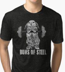 Buns of Steel (Dark) Tri-blend T-Shirt