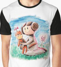 Princess Leia and Wookiee Doll Chewbacca STAR WARS fan art Graphic T-Shirt