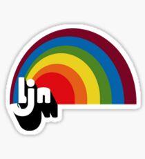 Vintage LJN Rainbow Logo  Sticker
