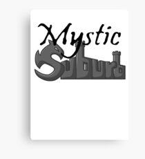 Mystic Suburb Logo Canvas Print