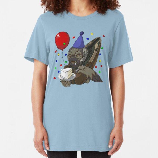 Grunt Birthday Party! Slim Fit T-Shirt