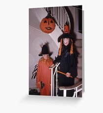 Found Photo Halloween Card - Scarecrow & Witch Greeting Card