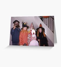 Found Photo Halloween Card - Trick-or-Treaters 2 Greeting Card