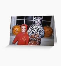 Found Photo Halloween Card - Devil & Cow Greeting Card