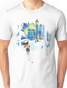 The Lion, The Doctor, and the Tardis Unisex T-Shirt
