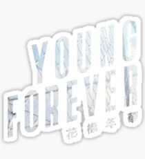 Pegatina BTS Young Forever Logotipo