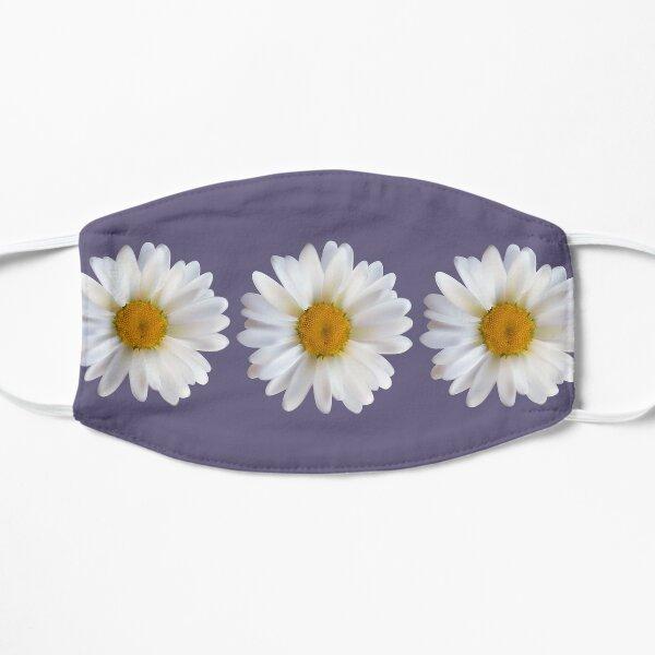 white chamomile flowers sticker Flat Mask