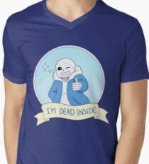 """Undertale - Sans """"I'm Dead Inside"""" Men's V-Neck T-Shirt"""