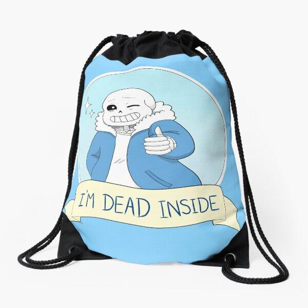 "Undertale - Sans ""I'm Dead Inside"" Drawstring Bag"