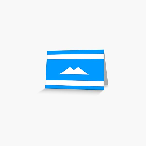 Ethnic flag of the Balkar and Karachay peoples Greeting Card
