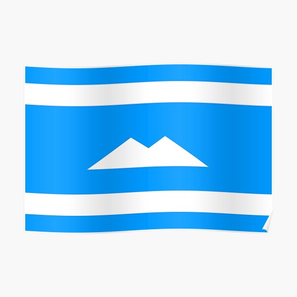 Ethnic flag of the Balkar and Karachay peoples Poster