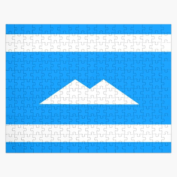 Ethnic flag of the Balkar and Karachay peoples Jigsaw Puzzle