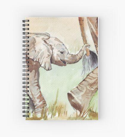 Baby Elephant walk Spiral Notebook