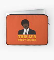 This is a tasty burger. Laptop Sleeve