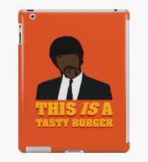 This is a tasty burger. iPad Case/Skin