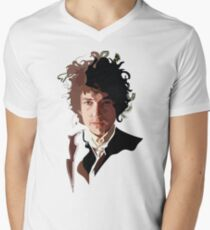 Bob Dylan Music Icon Men's V-Neck T-Shirt