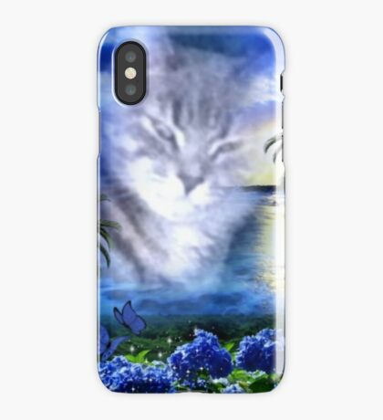 Paradise Blue - Kitty iPhone Case/Skin