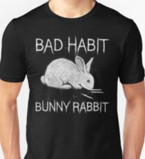 Bad Habit Bunny Rabbit Cocaine Unisex T-Shirt