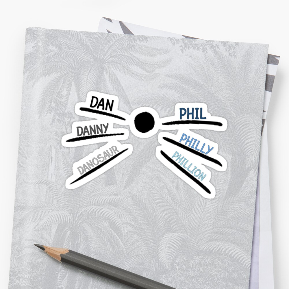 DAN AND PHIL CAT WHISKERS (WHITE) by thatthespian