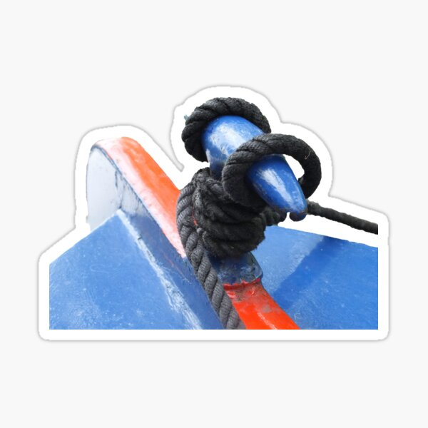 Rope on a narrowboat  Sticker