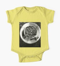 Coffee beans with black and white One Piece - Short Sleeve
