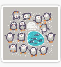 Winter penguins Sticker