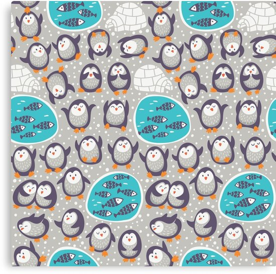Winter penguins by PenguinHouse