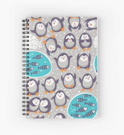 Winter penguins Spiral Notebook