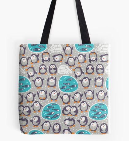 Winter penguins Tote Bag