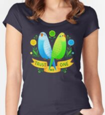 Trust NO One Budgerigars Women's Fitted Scoop T-Shirt