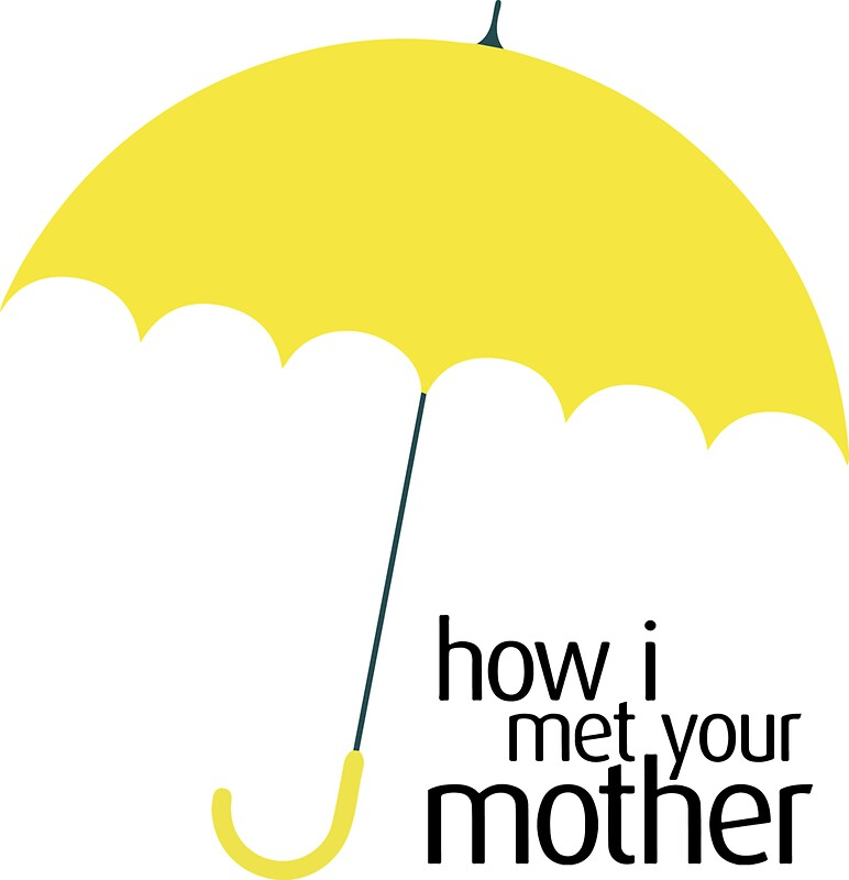 """Yellow Umbrella How I Met Your Mother Poster """"How I Met..."""