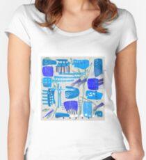 Chaotische Mid-Century Zusammenfassung Tailliertes Rundhals-Shirt
