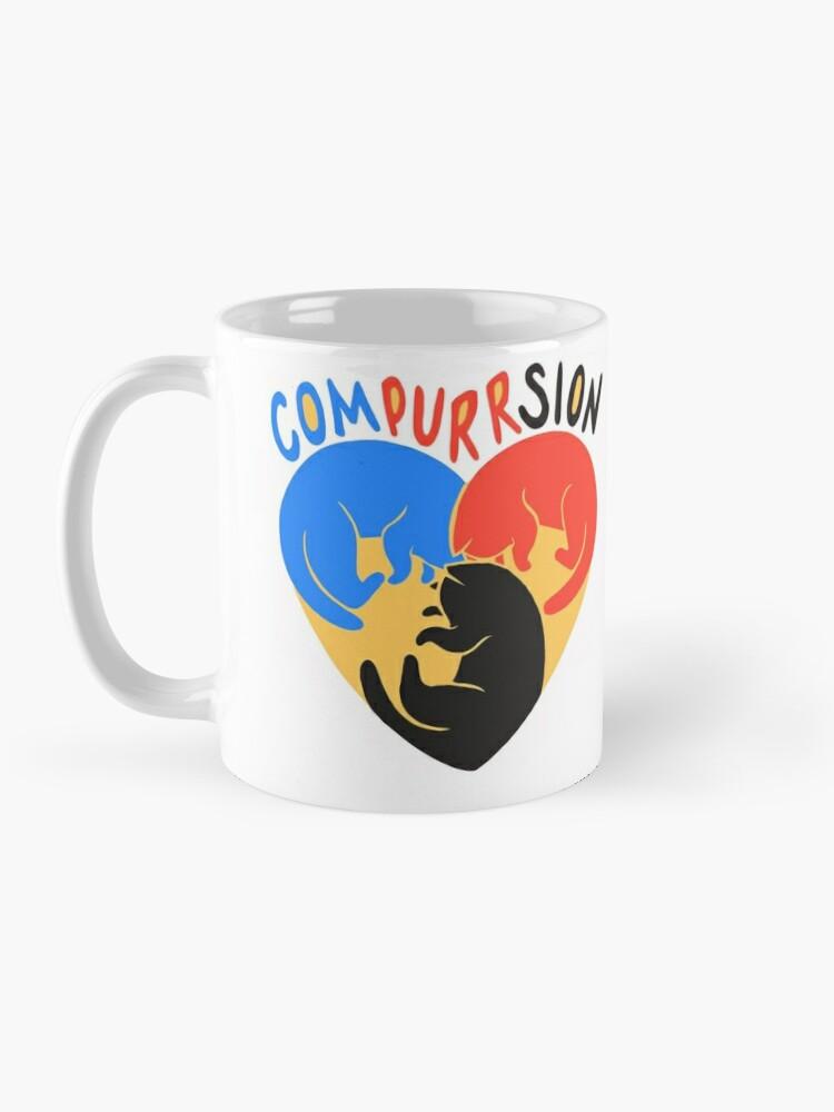 Alternate view of Compurrsion Cats Mug