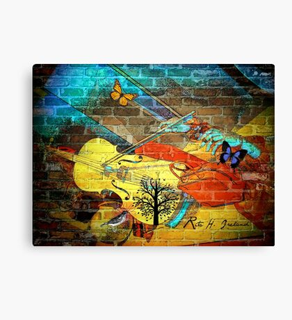 Edit My World With Color... Canvas Print