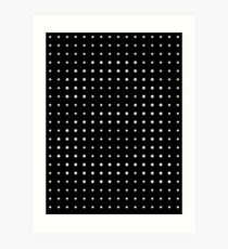 Subtle A in dots Art Print