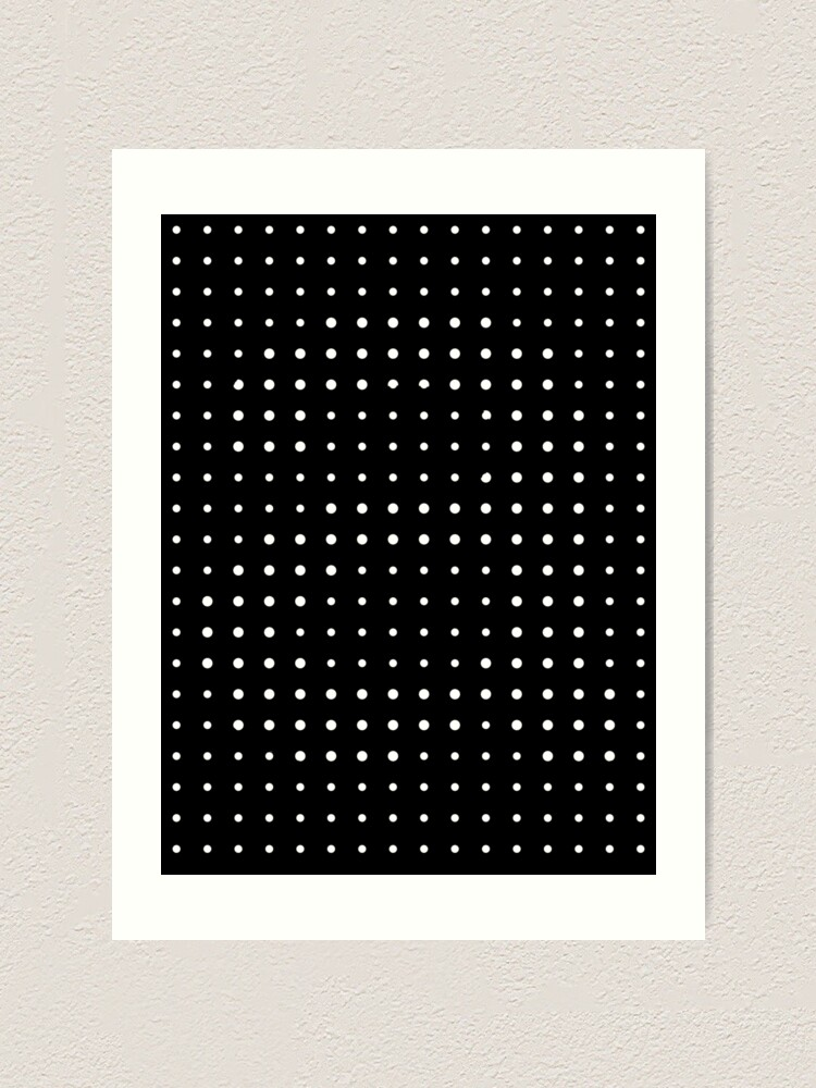 Alternate view of Subtle A in dots Art Print