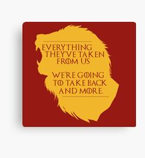 House Lannister: Everything They've Taken Canvas Print