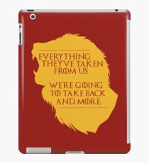 House Lannister: Everything They've Taken iPad Case/Skin