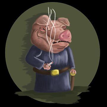 Smoking Pig by jkinmont