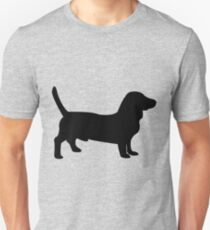 Bull terrier dog silhouette T-Shirt