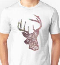 drop a heart, break a name Unisex T-Shirt