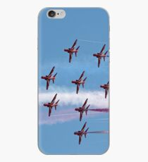 Red Arrows jets flying in formation iPhone Case