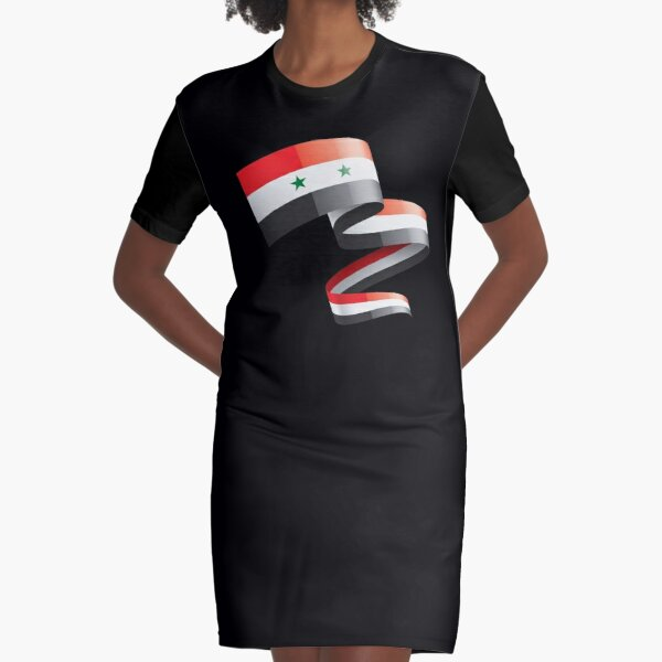 This is my country and my flag, Syria Graphic T-Shirt Dress