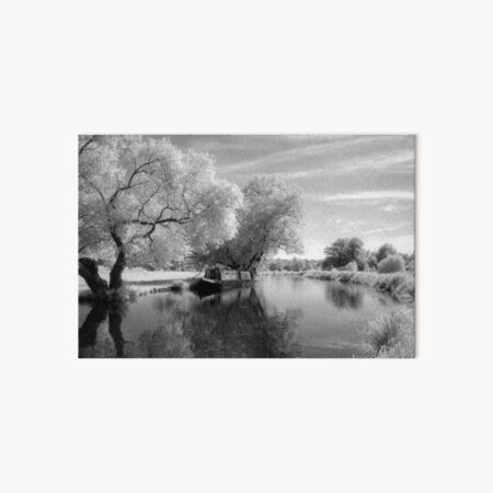 Narrowboat on the River Wey Art Board Print