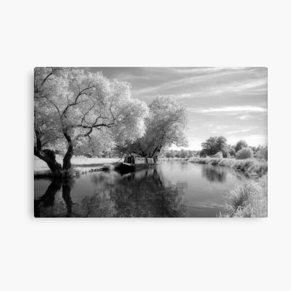 Narrowboat on the River Wey Canvas Print
