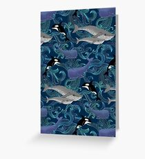 Beautiful Ocean Giants - teal Greeting Card